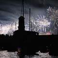 Fireworks Over Marseille's Vieux-port On July 14th Bastille Day by Sami Sarkis