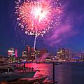Fireworks Over The Boston Skyline Boston Harbor Illumination by Toby McGuire