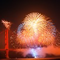 Fireworks Over The Golden Gate Bridge by Mountain Dreams