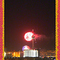 Fireworks Over The Las Vegas Strip by Shirley Anderson