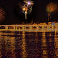 Fireworks Over The Rhone by Kay Brewer