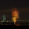 Fireworks Over The Verrazano Narrows Bridge by Kenneth Cole