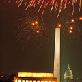 Fireworks Over Washington Dc Mall by Carl Purcell