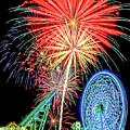Fireworks-wildwood Nj Boardwalk by Cindi Alvarado