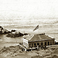 First Cliff House  View Of Ropes From The Cliff House To Seal Rock Circa 1865 by California Views Archives Mr Pat Hathaway Archives