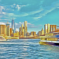 First East River Ferry Of The Day by Digital Photographic Arts
