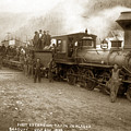 First Excursion Train In Alaska SkagwayJuly 21, 1898 by California Views Archives Mr Pat Hathaway Archives