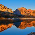 First Light Across Lake Sherburne by Greg Norrell