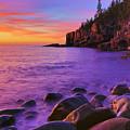 First Light At Boulder Beach by Nancy Dunivin