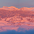 First Light Colorado Rocky Mountains Panorama by James BO  Insogna