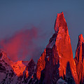 First Light On Cerro Torre - Patagonia by Stuart Litoff