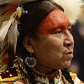 Pow Wow First Nations Man Portrait 1 by Bob Christopher