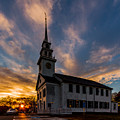 First Parish Church In Milton Massachusetts Sunset by Brian MacLean
