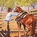 First Saddling by Howard Dubois