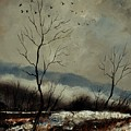 First Snow In Harroy by Pol Ledent