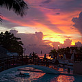 First Sunset In Negril by Dennis Ludlow