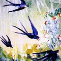First Swallows Of Summer  by Trudi Doyle