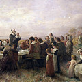First Thanksgiving Vintage Painting by PaintingAssociates