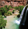 First View Of Havasu Falls by Kathy McClure