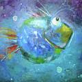 Fish Blue by Aksana Vaitsakhovich