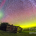 Fish-eye Lens Composite Of Aurora by Alan Dyer