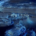 Fish Harbour Paros Island Greece by Colette V Hera Guggenheim