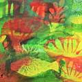 Fish In Green by HelenaP Art