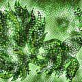 Fish In Green Mosaic 2 by Megan Walsh