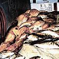 Fish Market On The Isle Of Capri,italy by Merton Allen