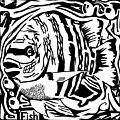 Fish Maze by Yonatan Frimer Maze Artist