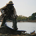 Fisher Statue by Joshua Sunday