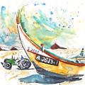 Fisherboat In Praia De Mira by Miki De Goodaboom