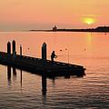 Fisherman At Bandon by Seil Frary