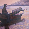 Fisherman At Good Harbor Beach Gloucester Circa 1880 by Laura Roberts