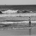 Fisherman - Costa Del Sol - El Salvador Bnw V by Totto Ponce