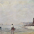 Fisherman In Villerville by Eugene Louis Boudin