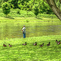 Fisherman Lazy Day At The Lake by Randy Steele