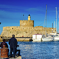 Fishermen And Sailboats In Rhodes, Greece by Global Light Photography - Nicole Leffer