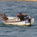 Fishermen In A Boat by Louise Heusinkveld