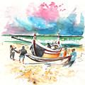 Fishermen In Praia De Mira 03 by Miki De Goodaboom