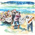 Fishermen In Praia De Mira by Miki De Goodaboom