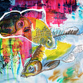 Fishes In Water, Original Painting by Ariadna De Raadt