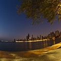 Fisheye Chicago Skyline At Dawn by Sven Brogren