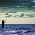 Fishing At Dusk by Vince Cavataio - Printscapes