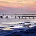 Fishing At Sunset by Alan Hausenflock