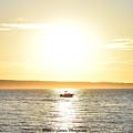 Fishing At Sunset by Brandon Larson