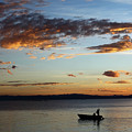Fishing At Sunset On Lake Titicaca by James Brunker