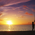 Fishing At Sunset by Vince Cavataio - Printscapes