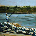 Fishing At The Point by Suzanne McKee