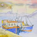 Fishing Boat At Dock by Jonathan Galente